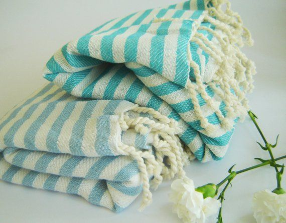 Sale Set Of 2 Turkish Towel Peshtemal Beach Towel Bath Towel