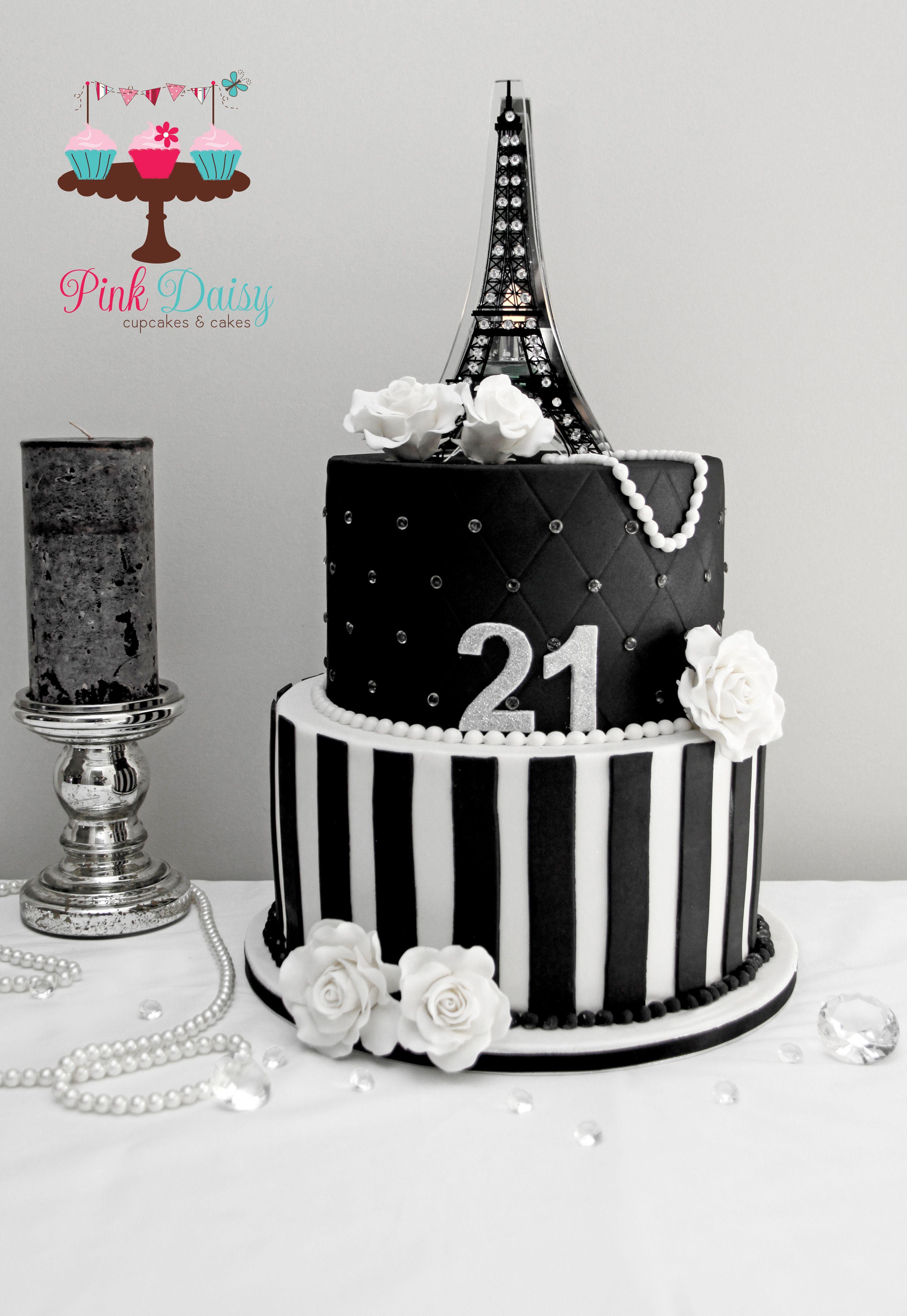 Incredible Paris Themed 21St Birthday Cake 21St Birthday Cakes Paris Funny Birthday Cards Online Fluifree Goldxyz