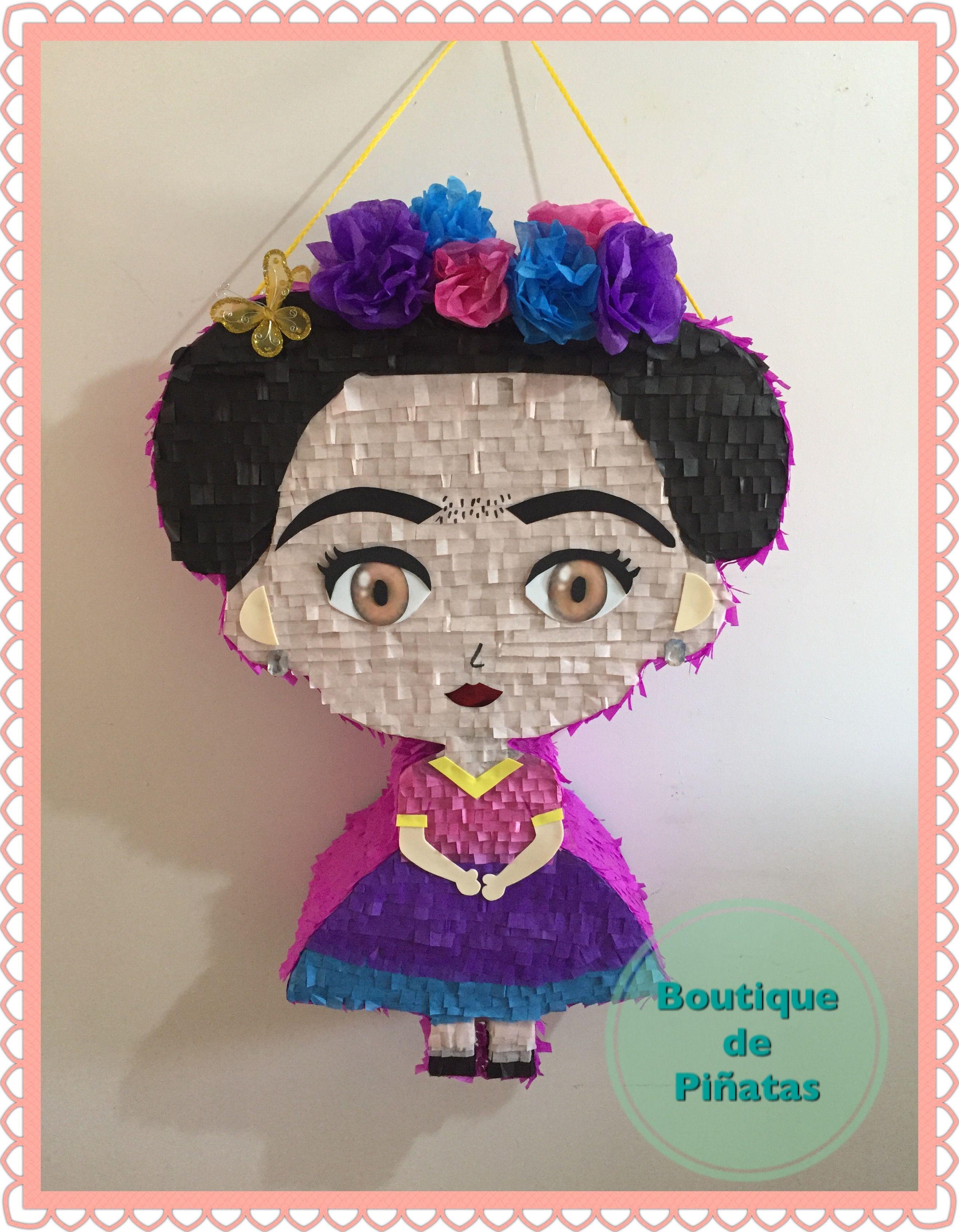 Frida Kahlo • Piñata • $580  | 2 días para hacerla + 5-6 días hábiles de envío a todo México |