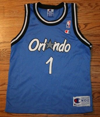 Vintage PENNY HARDAWAY #1 ORLANDO MAGIC CHAMPION Basketball JERSEY-Youth M 10-12