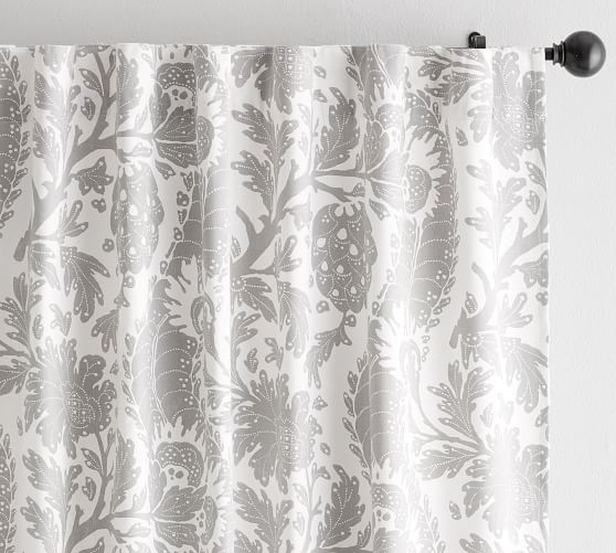 Maris Print Curtain Set Of 2 96 Quot Flax Printed Curtains