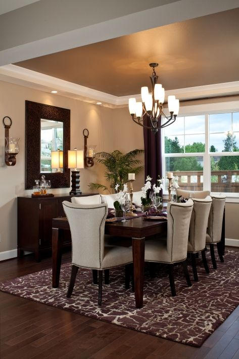 I like the paint and crown moulding possibility for our for Formal dining room paint