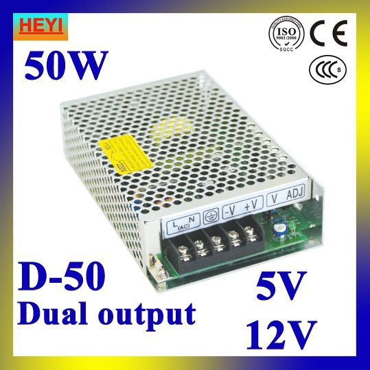 Dual Output Switching Power Supply 5v 12v 100 120v 200 240v Input Led Power Supply 50w 5v 12v Transformer Led Power Supply Power Supply Electrical Equipment