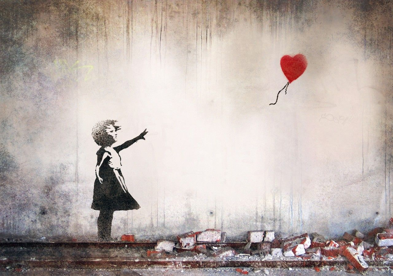 banksy heart balloon mural design art pinterest banksy banksy heart balloon mural design