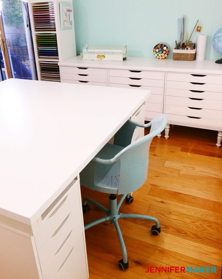 Diy craft table with storage in 2020 craft tables with