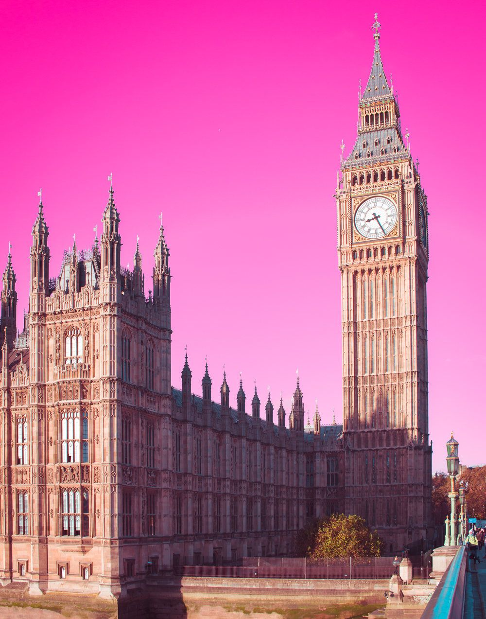 Big Ben Photo London Photography Parliament England wall art hot pink Travel Photography Historical Architecture Westminster Bridge by ... & Big Ben Photo London Photography Parliament England wall art ...