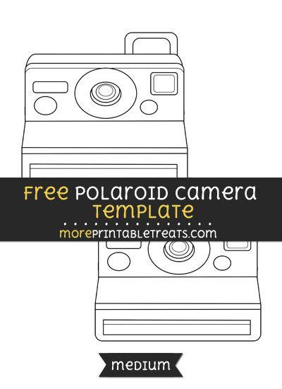 free polaroid camera template medium shapes and templates