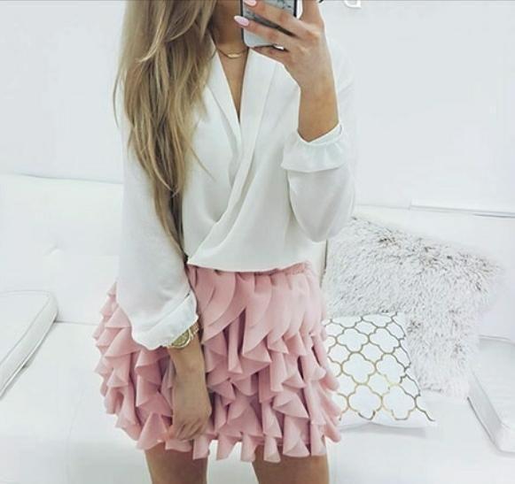 Hip Fun Mini Skirt, Ruffle Elegant Pleated Mini, Several