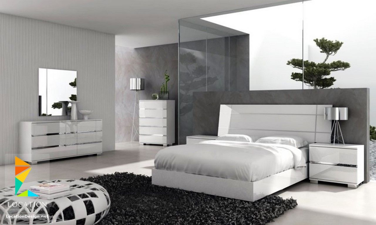 غرف نوم عرسان مودرن 2018 2019 لوكشين ديزين نت White Furniture Bedroom Modern White Bedroom Set Contemporary Bedroom Sets