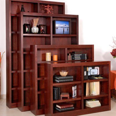 Concepts In Wood Double Wide Veneer Bookcase Mi4836 C And Products