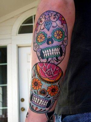 mexican style / sugar skull / dia de los muertos tattoo