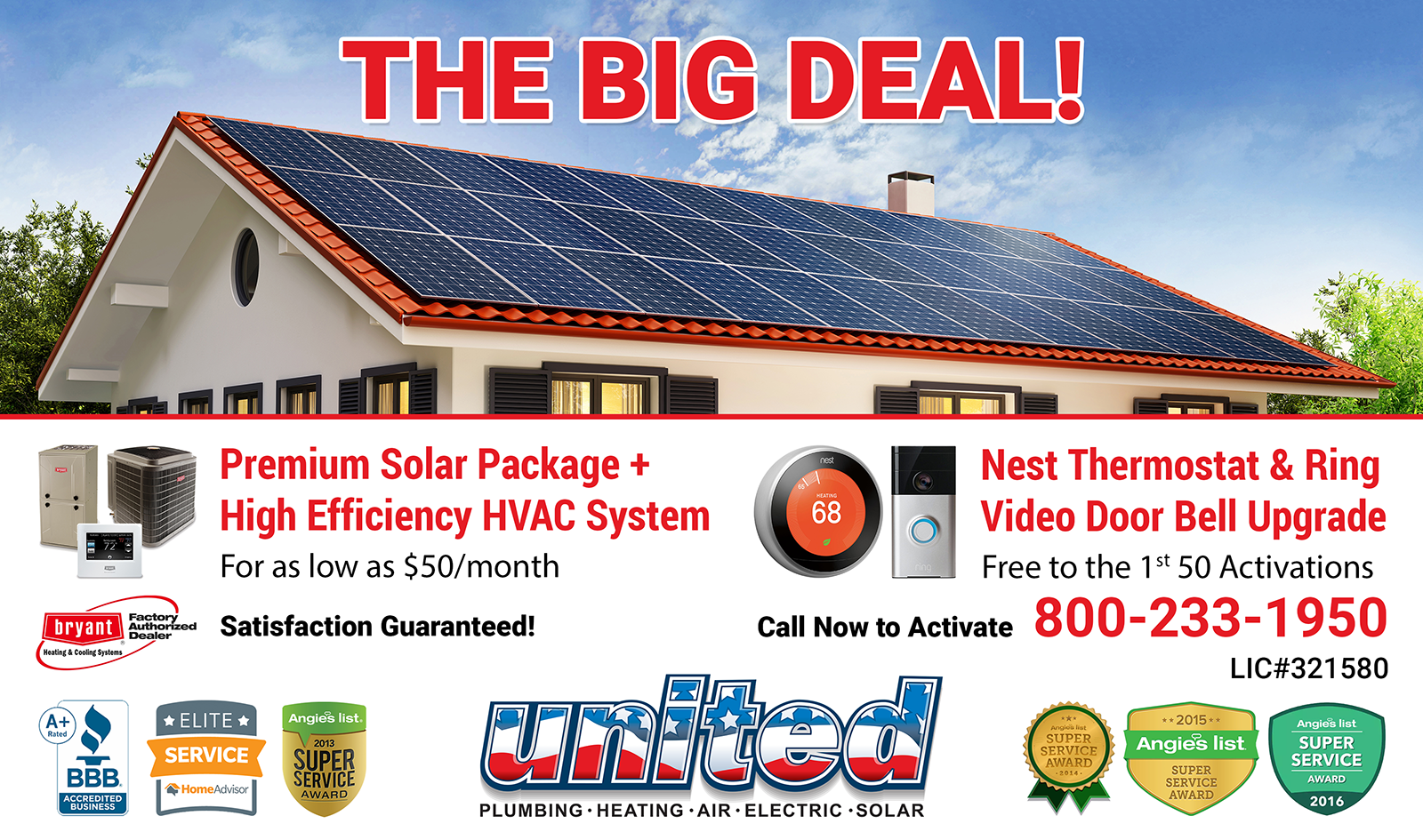 Don't miss THE BIG DEAL from United Plumbing Heating Air