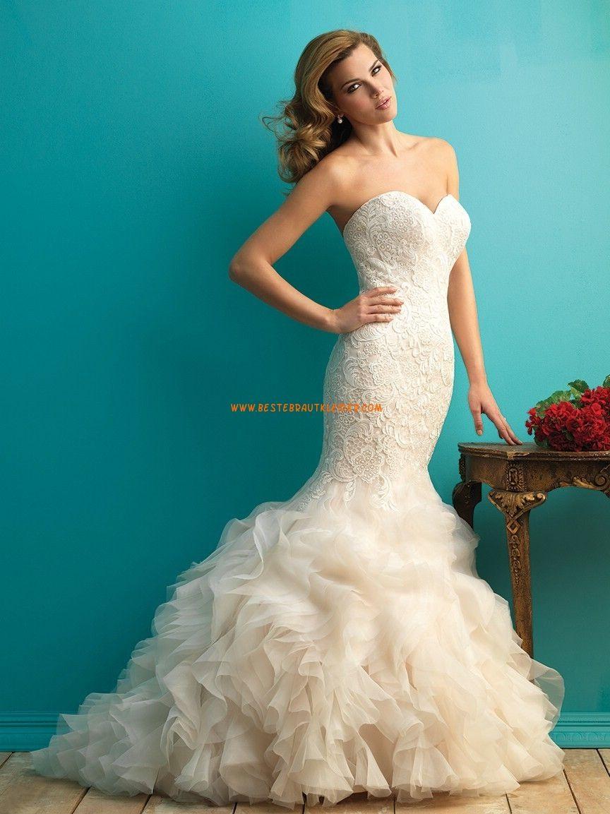 Meerjungfrau Elegante Luxuriöse Brautkleider aus Organza mit ...