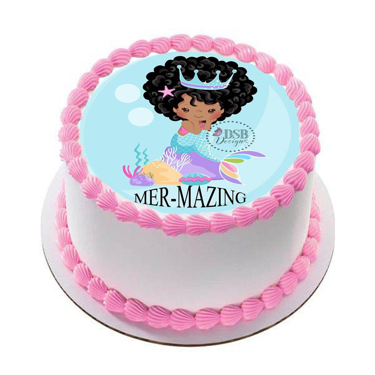 Custom edible cake topper mermaid edible image cake topper