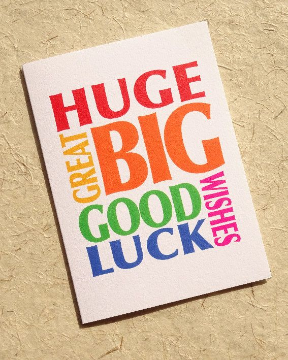 Good luck card, new job cards, driving test card, good luck, good - job test