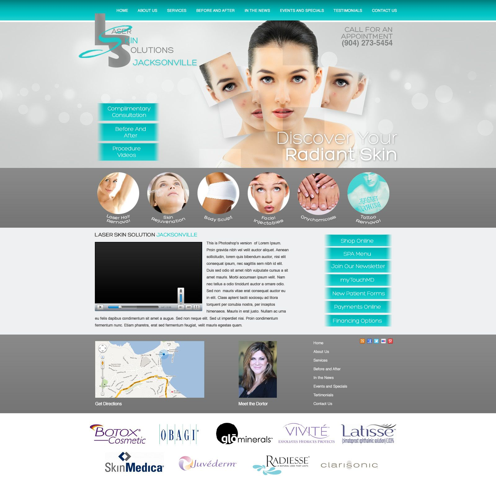 Medical Aesthetic Website Design And Development By Drwebsolution Com Medical Aesthetic Dental Website Web Layout Design