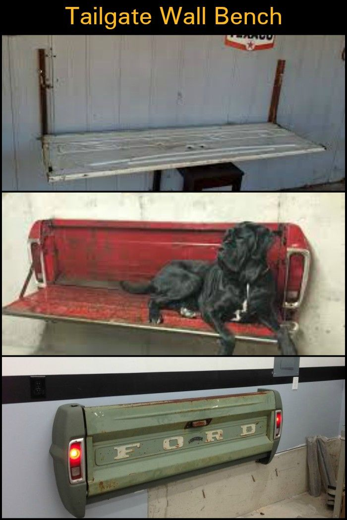 How to Make a Tailgate Wall Bench is part of How To Make A Tailgate Wall Bench Diy Projects For Everyone - Learn how to build a folding wall bench from a repurposed tailgate