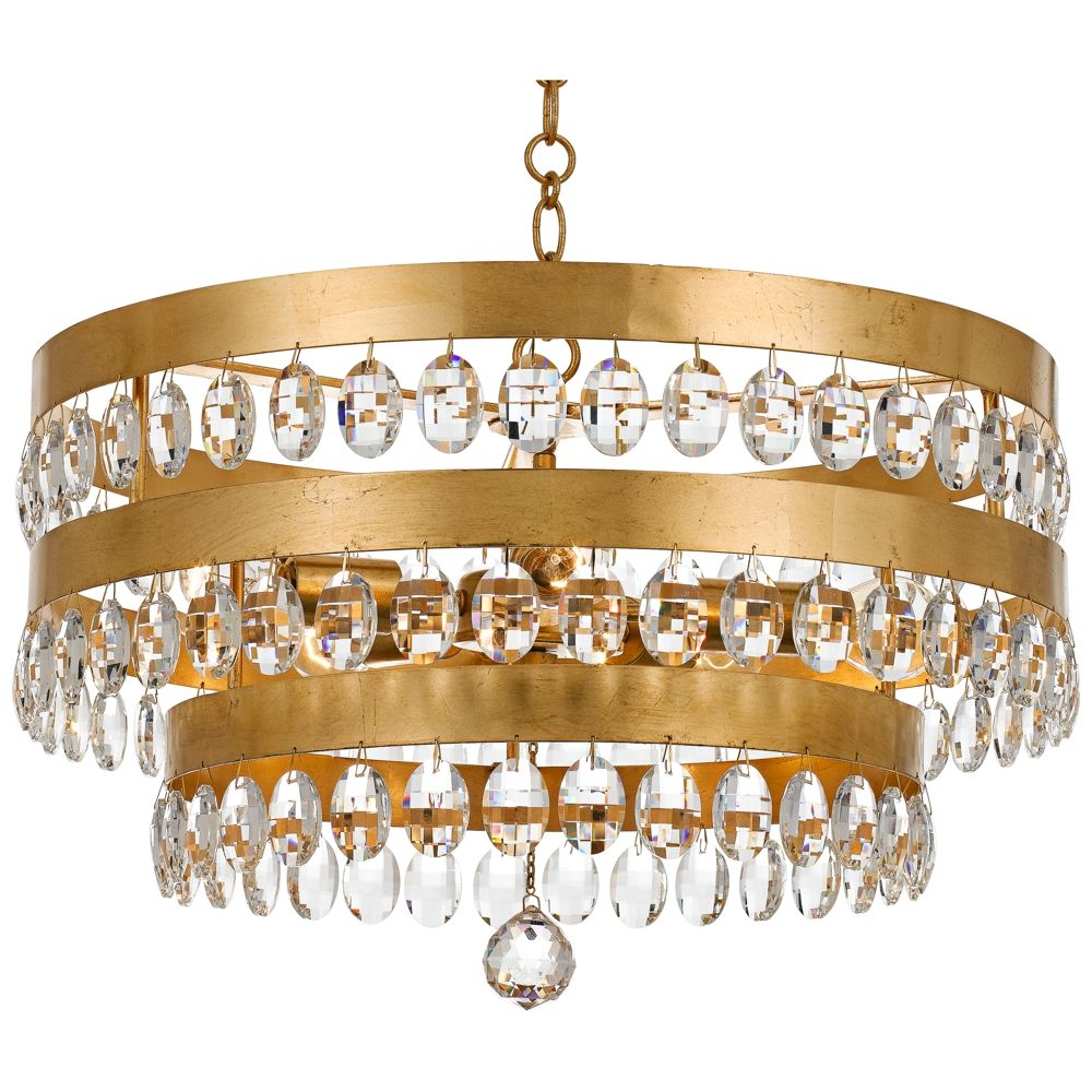 Crystorama perla 21 34w antique gold crystal chandelier style crystorama perla 21 34w antique gold crystal chandelier 20a39 lamps plus aloadofball Image collections