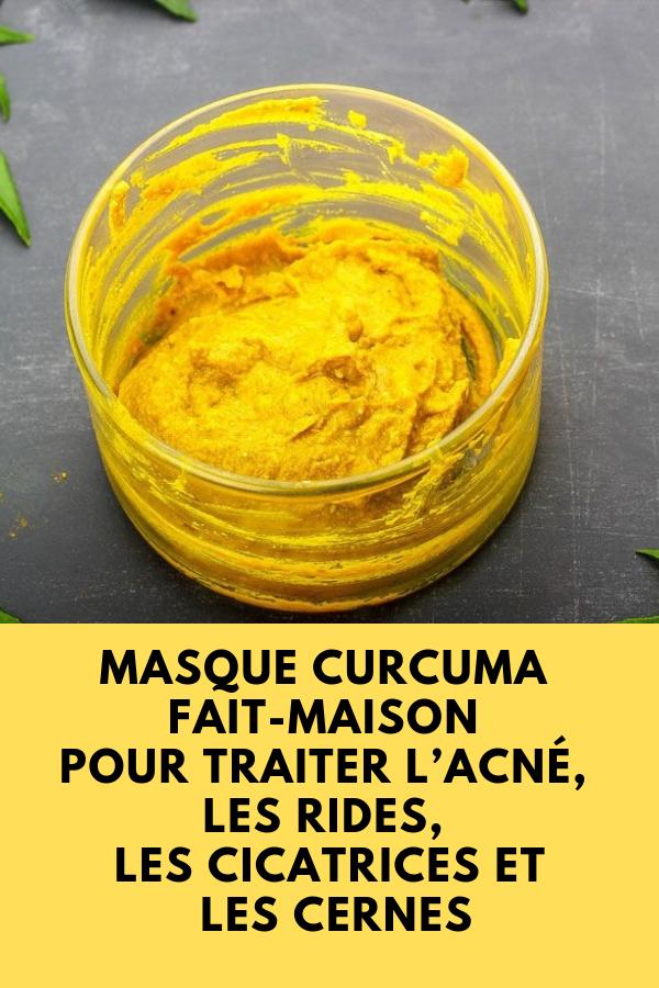 Masque curcuma fait maison pour traiter l acn les rides les cicatrices et les cernes soins - Masque anti cerne maison ...