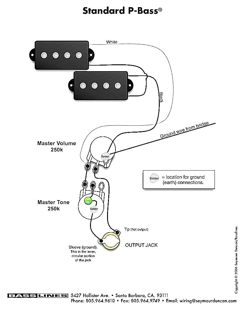squier p bass wiring schematic