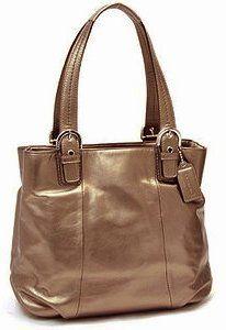 39e3de3126c5 Authentic Coach Soho Leather North South Tote Bag 17216 Bronze  248.00. Christian  AudigierCole ...