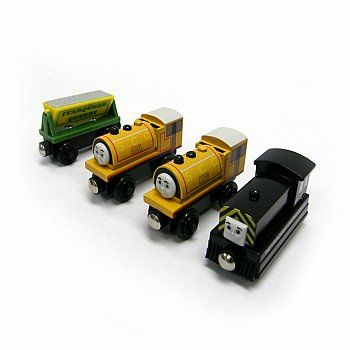 Quarry Gift Pack Bill Ben Mavis Wooden Train Engine Gift Ideas