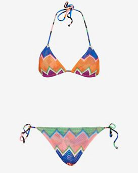 f91314b36bacd Missoni Mare String Tie Knit Bikini: Orange/Blue- FINAL SALE | In ...