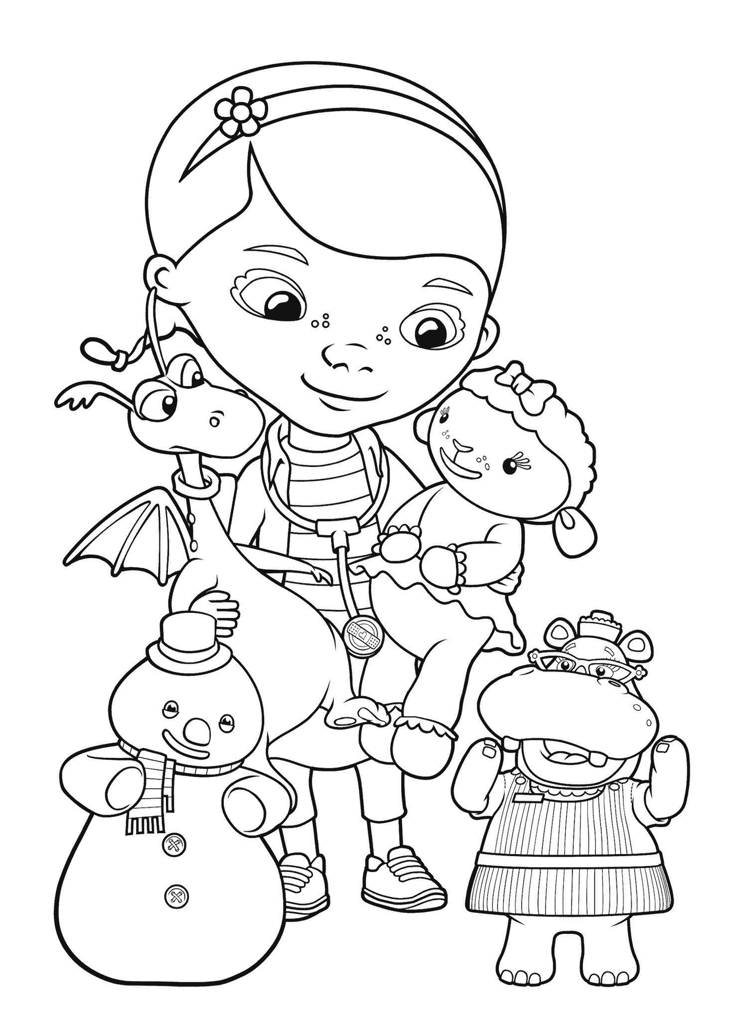Disney Coloring Pages Doc Mcstuffins Disney Coloring Pages