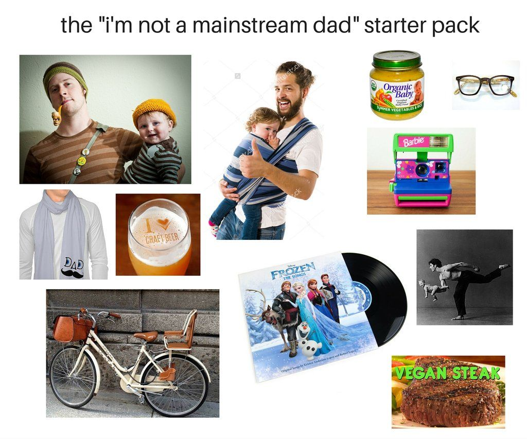 How To Be A Cool Hipster Dad Baby Stuff Dad Starter Pack Dads