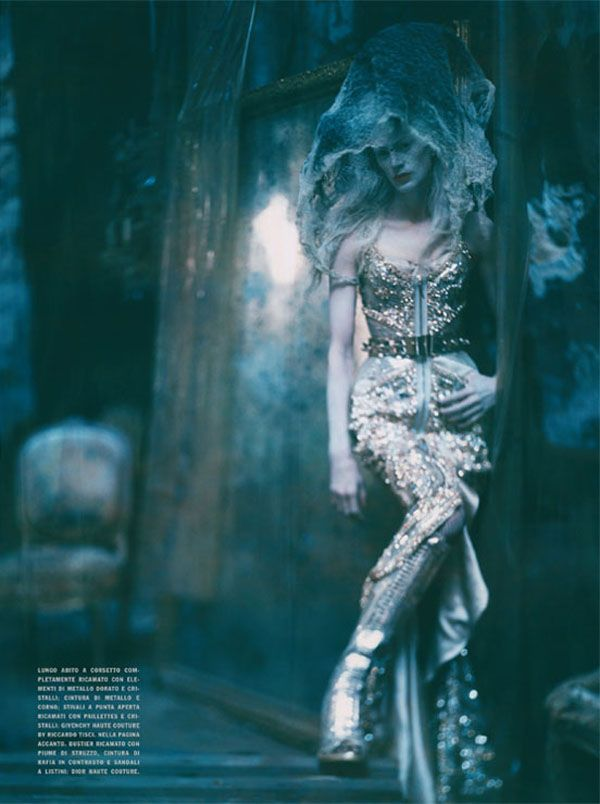 Kristen McMenamy by Paolo Roversi in The Grand Couture | Vogue Italia September 2010