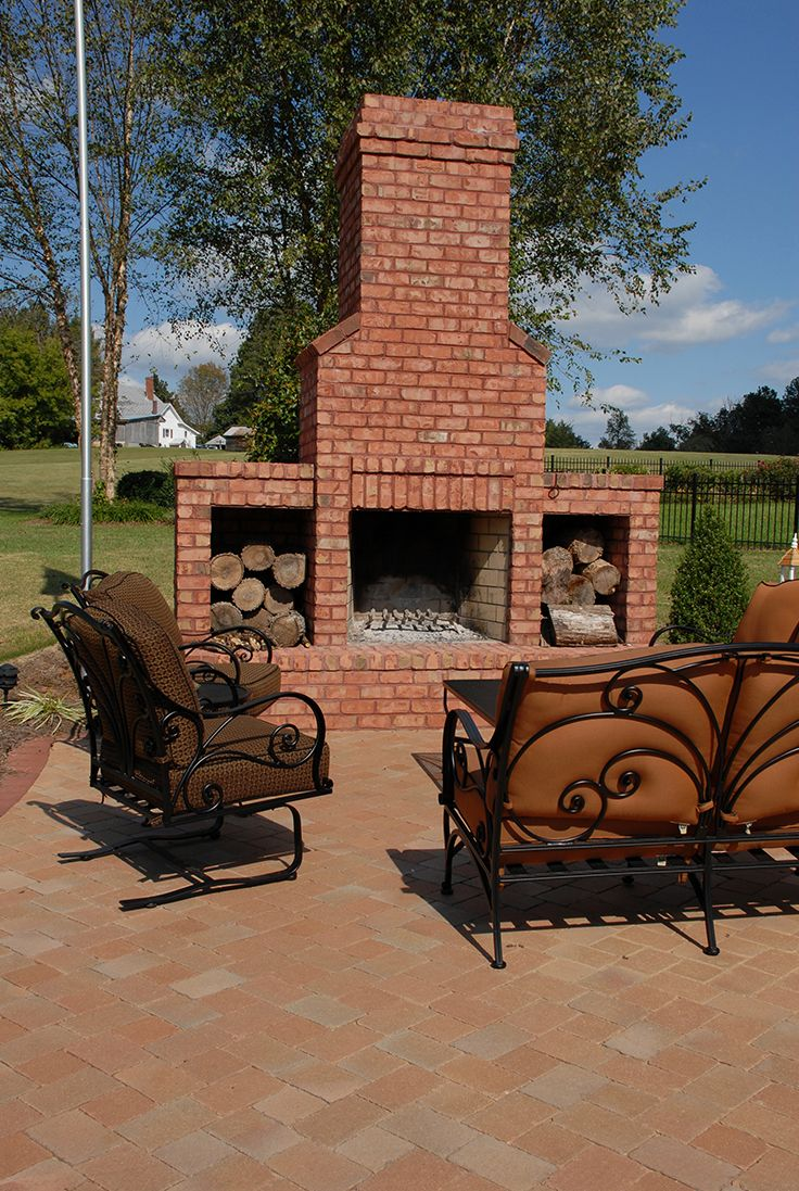 Don T Forget About Your Outdoor Space Add A Brick Fireplace With