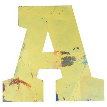 Check out this item at One Kings Lane! Metal Marquee Letter A