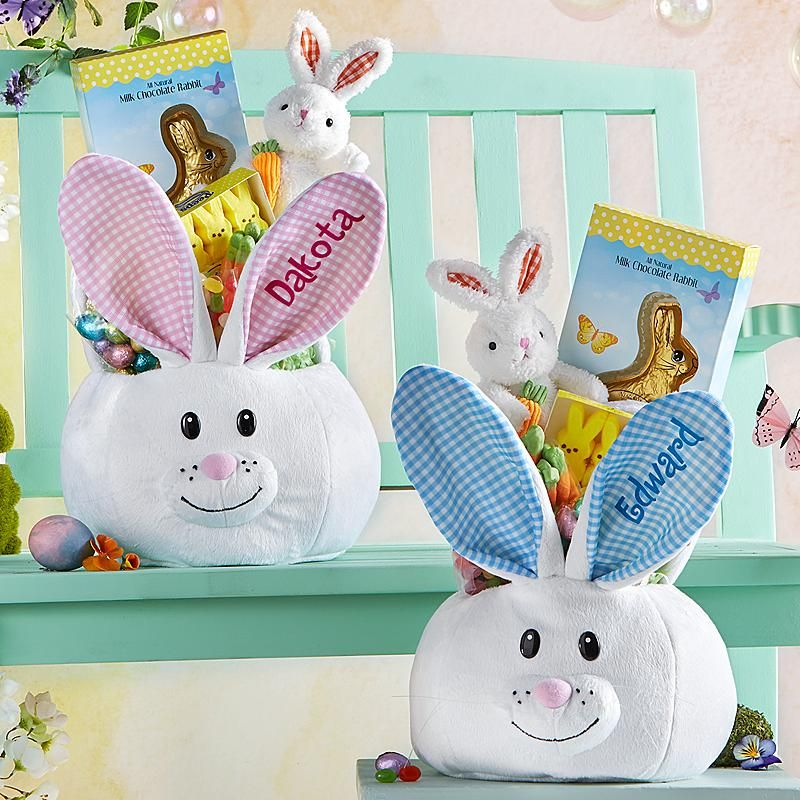 The chic technique cute fluffy bunny plush easter basket need a unique gift send fluffy bunny plush easter basket and other personalized gifts at personal creations negle Image collections