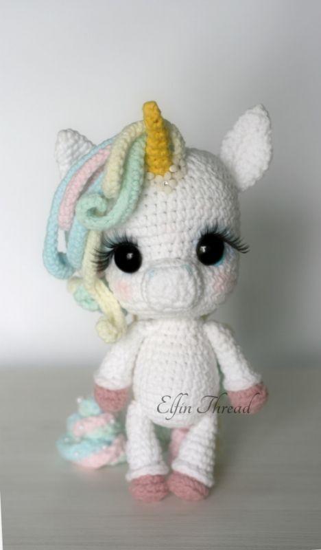 Lily Rainbow Cheeks the Chibi Unicorn amigurumi pattern by Elfin ...