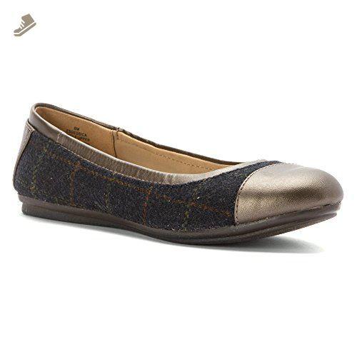 Women Ballet Flats Genuine Leather Shoes Slip on Loafers Women Flats Woman Shoes Black 6M US