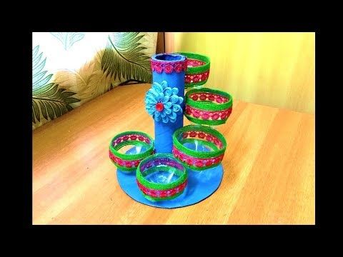 Empty Plastic Bottle Vase Making Craft Water Bottle Recycle