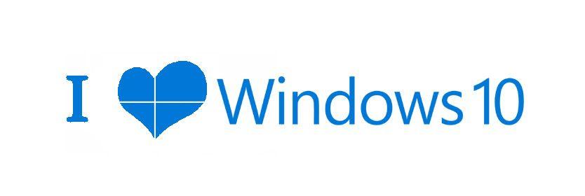 I Love Windows 10 Badge Logo Quill Post Microsoft Windows 10 Microsoft Windows