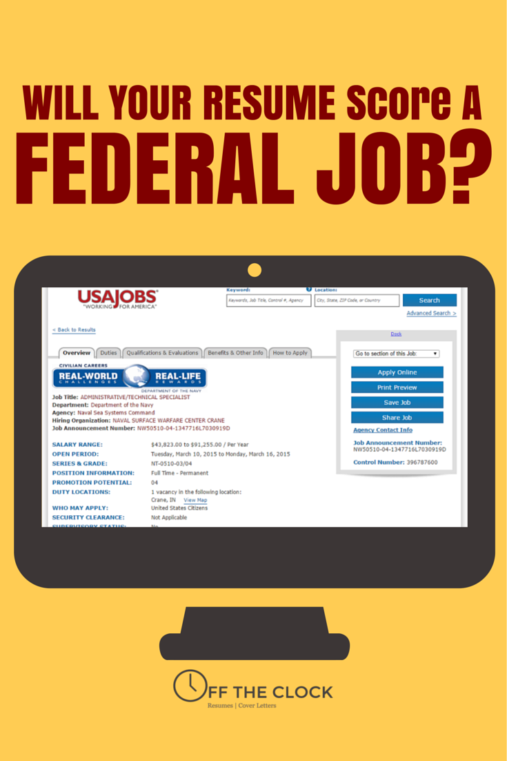 will your resume score a federal job? needs cv makeup artist example bba format pdf basic objective for