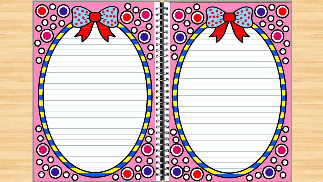 Circles Border Design For Projects On Paper Easy Border Designs Border Design Borders For Paper Simple Borders