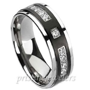 Black And Silver Wedding Rings For Men Google Search
