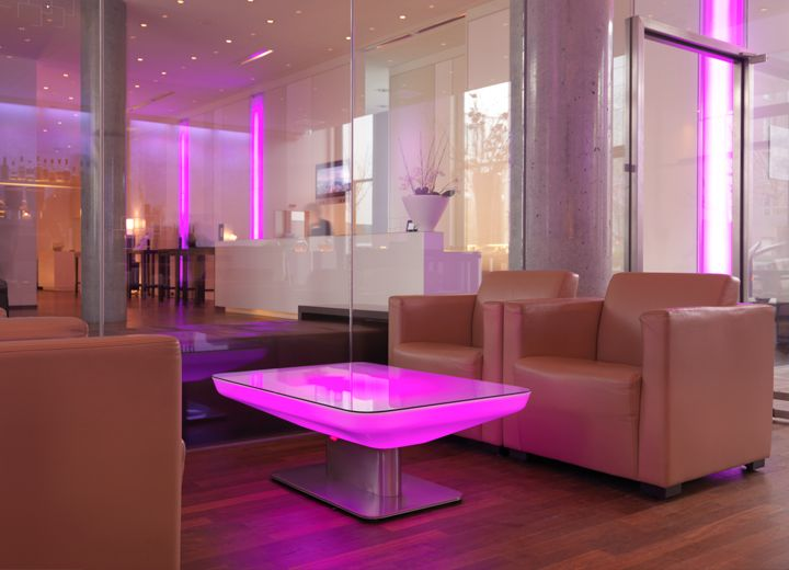 Table Lumineuse Led Table Basse Lumineuse Salle A Manger Verre Table Basse Design