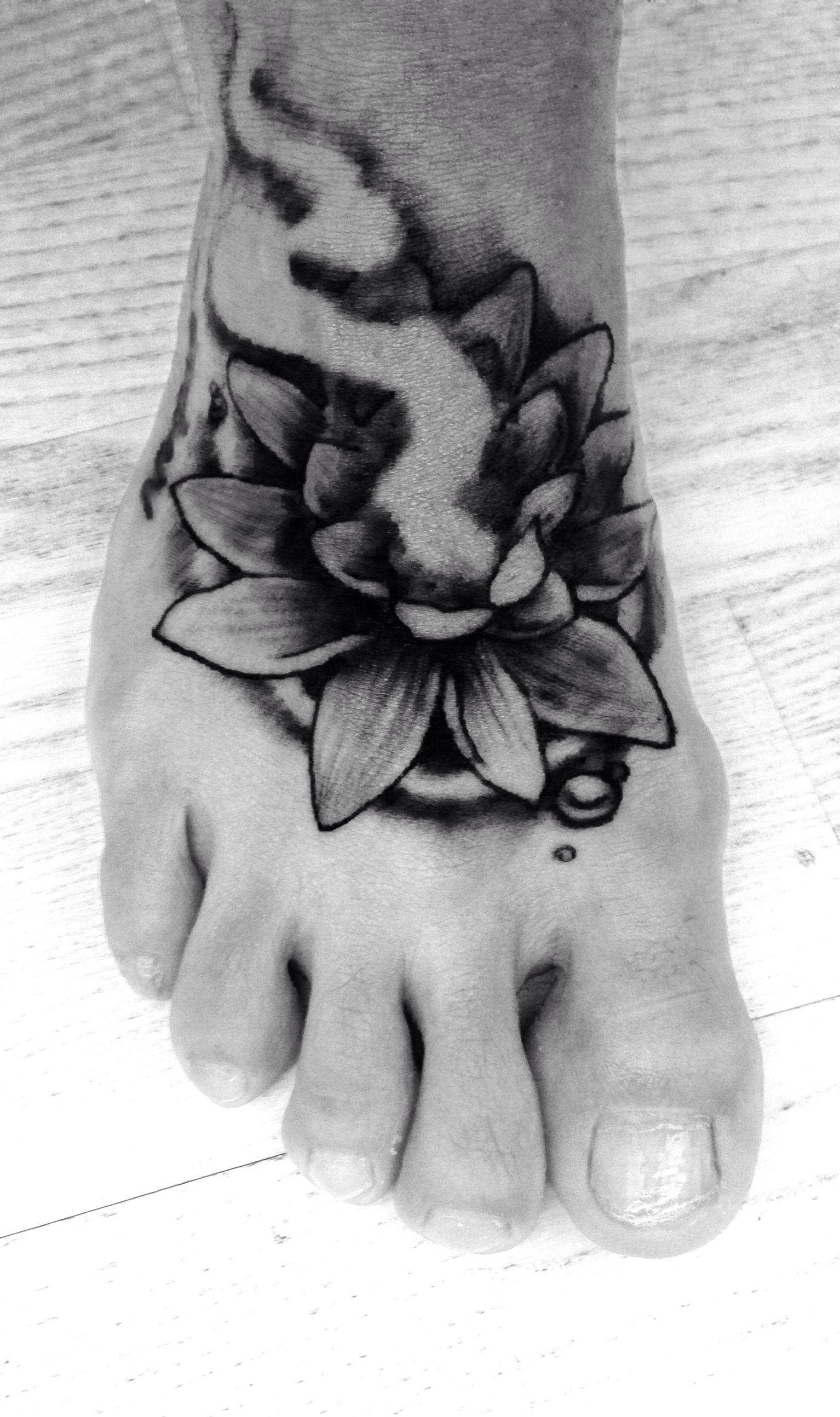 Cover Up Lotus Flower Foot Tattoo Tattoos Pinterest Flower