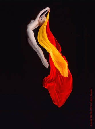"""Underwater Study #133,5 Cibachrome,  by Howard Schatz (also used on the cover of his awesome book """"Pool Light"""")"""