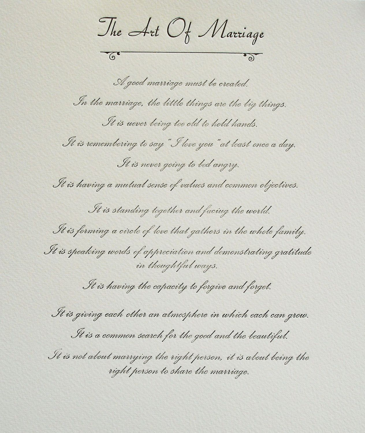 Non Religious Wedding Ceremony Script: The Art Of Marriage - Our Wedding Words :)