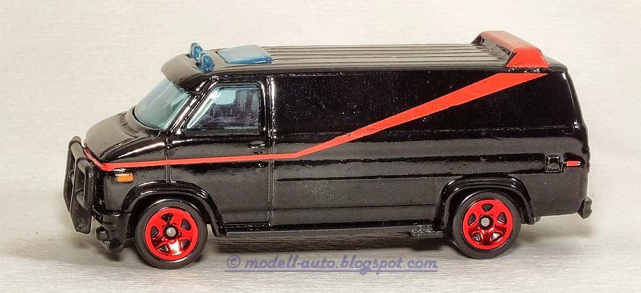 Mattel Hot Wheels A Team Van Gmc Vandura Malaysia Decals 2011
