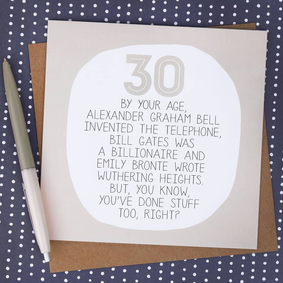 Pin By Jewel On Design Foil Lettering Funny 30th Birthday Cards 30th Birthday Cards Birthday Card Messages
