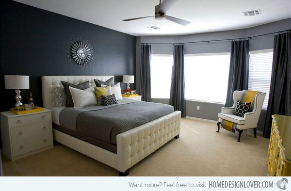 Michelle Hinckley A Sophisticated Color Scheme Of Charcoal Gray White And Yellow The Deep Exude Feeling Drama Elegance While Contrasting