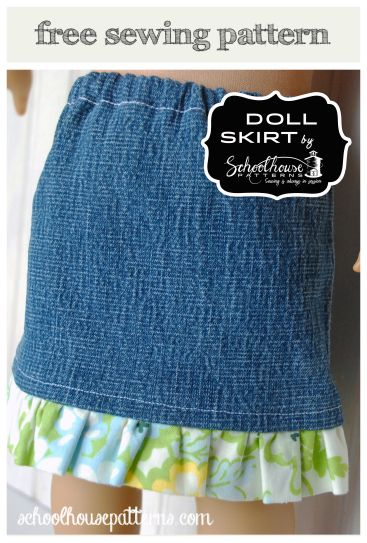The Doll Skirt Upcycle | Pinterest | Puppenkleidung, Puppenkleider ...