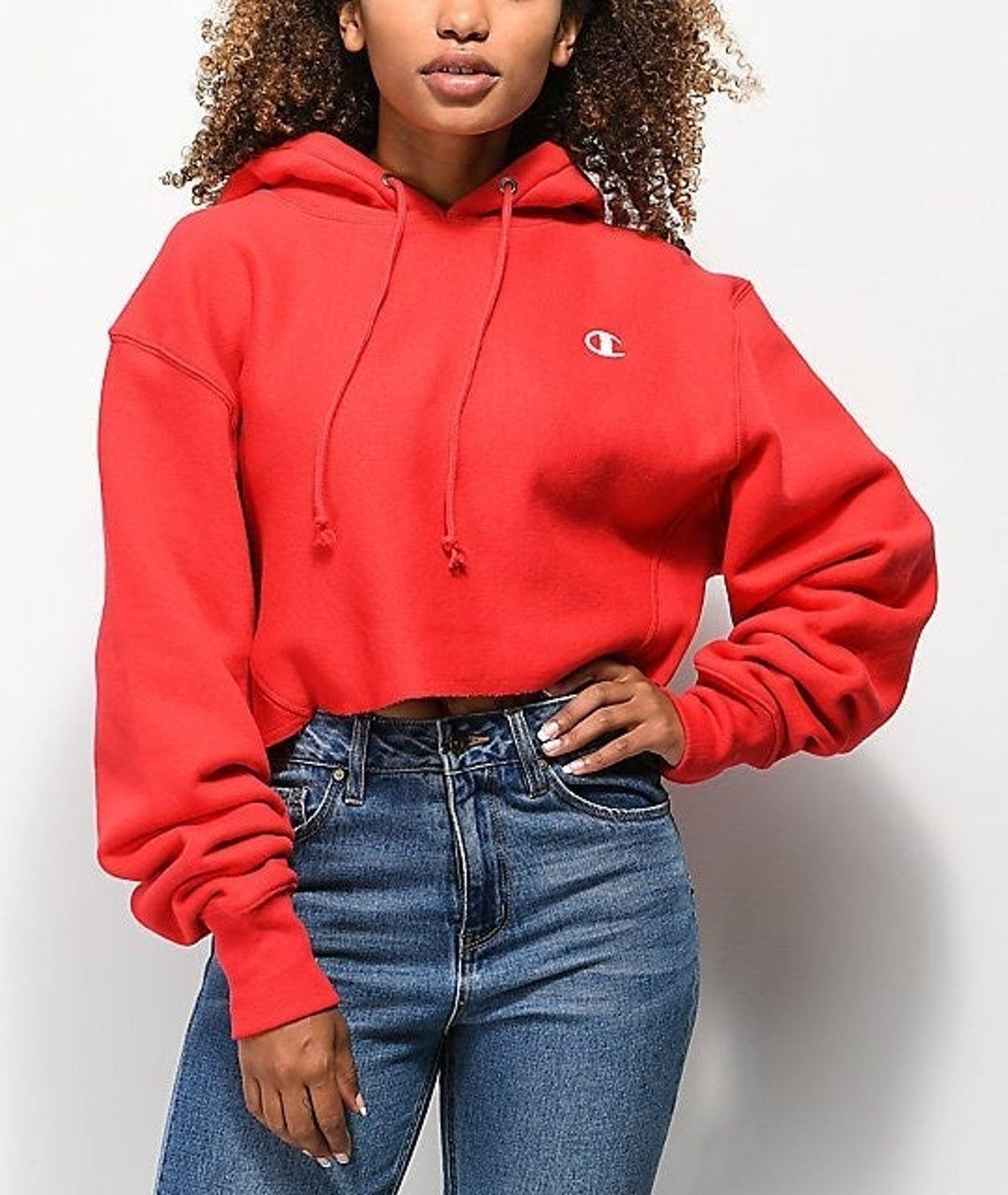 Nwt Champion Cropped Hoodie Red Hoodie Outfit Cropped Hoodie Outfit Red Cropped Hoodie [ 1422 x 1200 Pixel ]
