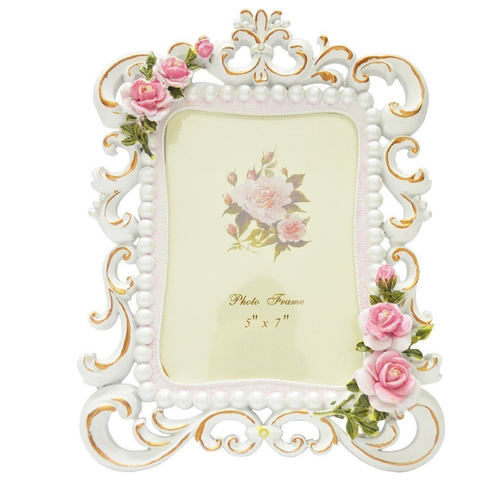 Amazon.com - Gift Garden Picture Frame - Rose Printing Flower Carvin ...